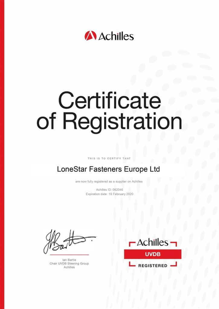 Community Certificate 1 UVDB 1