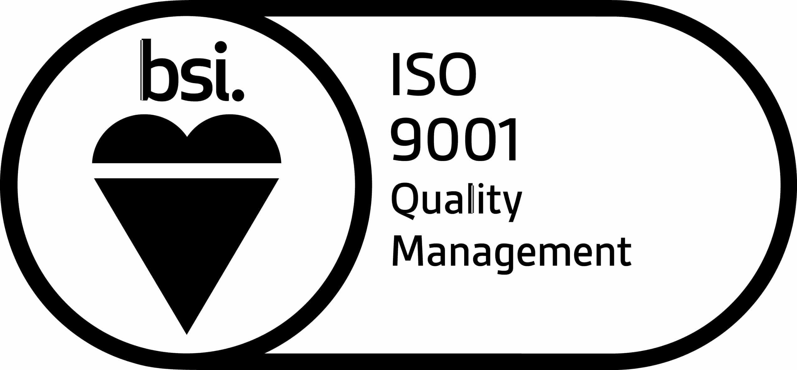 BSI Assurance Mark ISO 9001 KEYB